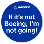 BOEING  I'm not going! ステッカー(丸型)