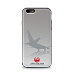 JAL iPhoneケース7/8 シルエット グレー