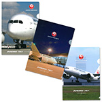 JAL×BOEINGクリアファイルセット�